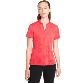 Nike Women's Short Sleeve Dri-Fit Victory Floral Golf Polo - Red/Very Berry/Bright Crimson