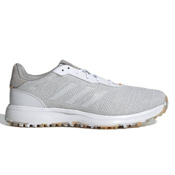 Adidas Men's S2G Spikeless Golf Shoes - Grey Three/Cloud White/Hazy Orange