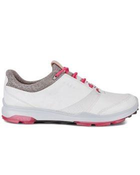 Ecco Women's Biom Hybrid 3 Golf Shoes - White/Tea Berry