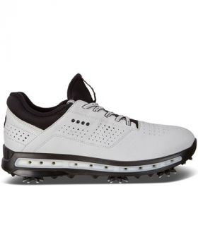 Ecco Men's Cool Golf Shoes - White/Dynasty Dritton