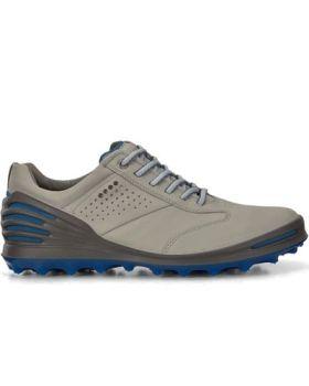 Ecco Men's Cage Pro Golf Shoes - Concrete/Bermuda Blue