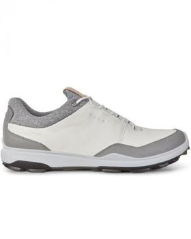 Ecco Men's Biom Hybrid 3 Golf Shoes - White/Black