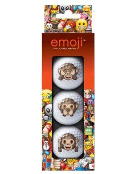 EMOJI 3PK GOLF BALLS MONKEY