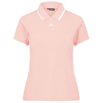 J.Lindeberg Women's Sevina Golf Polo - Pale Pink - FW21