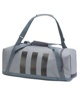 Adidas 3-Stripes Medium Golf Duffle Bag - Grey/Black/White