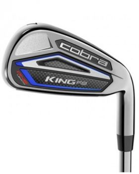 Cobra King F8 One Length Irons Silver Black with 5-GW Regular Flex Steel Shaft