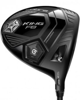Cobra King F8 Driver Black with Stiff Flex Shaft Left Hand