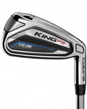 Cobra King F9 One Length Silver Black Irons 5-GW Graphite Stiff Flex Shaft - Left Hand