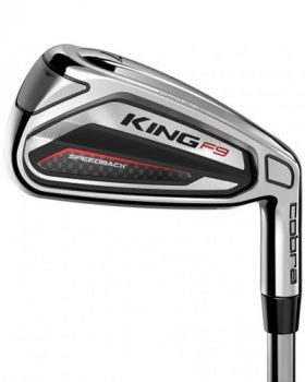 Cobra King F9 Silver Black Irons 4-GW Steel Stiff Flex Shaft - Left Hand