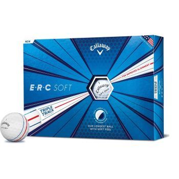 Callaway 2021 ERC Soft X Triple Track Golf Balls 12Pcs - White