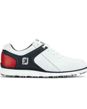 Footjoy Pro SL Golf Shoes - White/Navy/Red