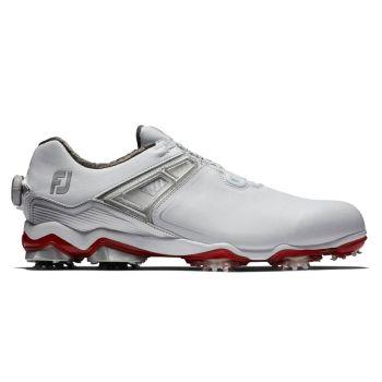 Footjoy Tour X Boa Golf Shoes - White/Grey/Red
