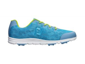 FootJoy FJ EnJoy Women's Spikeless Golf Shoes - Pool Blue (Size 9.5 US)