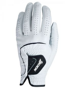 Srixon Leather Glove WHITE LEFT HAND (For the Right Handed Golfer)