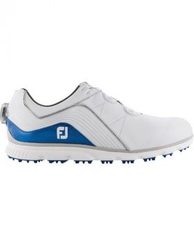 Footjoy 2019 Pro/SL Boa Golf Shoes - White/Indigo