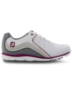 FootJoy Women's Pro/SL Golf Shoes - White/Grey/Pink