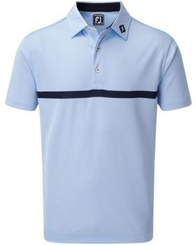 Footjoy Engineered Nailhead Jacquard Polo - Light Blue/Navy