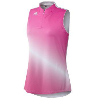 Adidas Women's AeroReady Gradient Sleeveless Polo - Screaming Pink