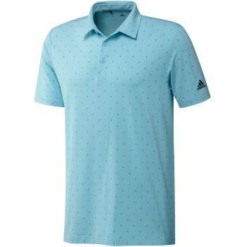 Adidas Men's Golf Ultimate 365 Printed Polo Shirt - Hazy Sky / Hazy Blue