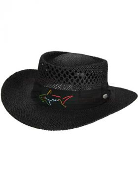 GREG NORMAN STRAW HAT BLACK