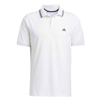 Adidas Men's GO-TO Primegreen Pique Polo Shirt - White / Crew Navy