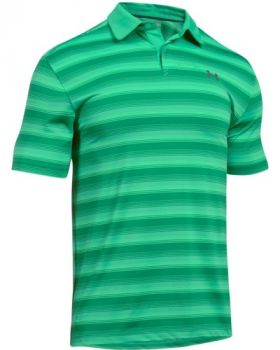 Under Armour Coolswitch Bermuda Stripe Polo Shirt - Jade