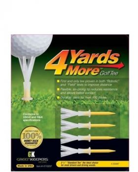 Greenkeepers 4Yards More 2 3/4 Yellow Standard Golf Tees