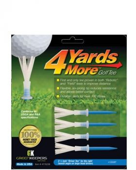 Greenkeepers 4Yards More 3 1/4 Driver Blue Golf Tees
