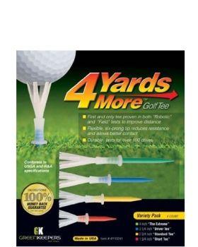 Greenkeepers 4Yards More Golf Tee - Variety Pack 4 Tees
