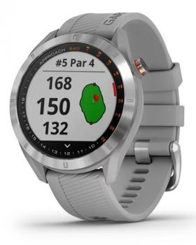 Garmin Approach S40 Golf GPS Watch - Stainless Steel with Powder Gray Band