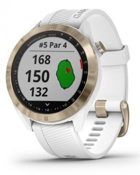 Garmin Approach S40 Golf GPS Watch - Light Gold with White Band