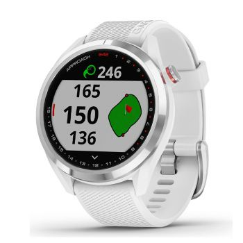 Garmin Approach S42 - Polished Silver With White Band