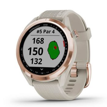 Garmin Approach S42 - Rose Gold with Light Sand band