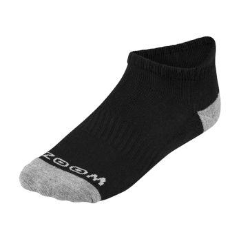 Zoom Ladies Ankle Low Cut Socks (3pairs) - Black/Silver