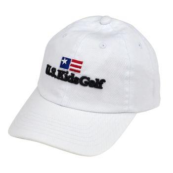 US KIDS GOLF TWILL MEDIUM/LARGE CAP 54 - WHITE