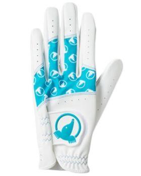 HONMA Women's Glove - White/Turquoise Blue