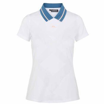J.Lindeberg Women's Nilo Golf Polo Shirt - White - FW21