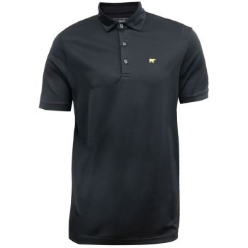 Jack Nicklaus Solid Stripe Texture with Self-Collar Polo - Caviar