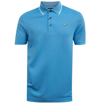 Jack Nicklaus Fancy Contrast Collar Solid Polo - Azure Blue