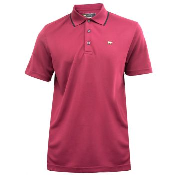 Jack Nicklaus Fancy Contrast Collar Solid Polo - Rhododendron