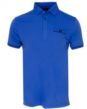 J.Lindeberg M Petr Reg Tx Jersey Polo Shirt - Dazz Blue