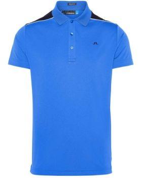 J.Lindeberg M Matty Reg Tx Jersey Polo Shirt - Daz Blue