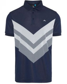 J.Lindeberg M Ace Reg Fit TX Jaquard Polo Shirt - Navy