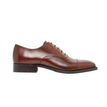 J.Lindeberg Men's Hopper Leather Oxford Shoes - Brown - FW20