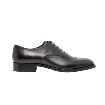 J.Lindeberg Men's Hopper Leather Oxford Shoes - Black - FW20