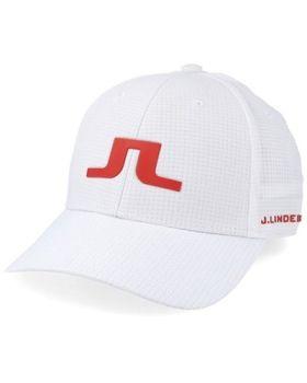 J.Lindeberg Caden Tech Mesh Cap - White