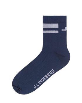 J. Lindeberg Dry Yarn Golf Sock - Navy
