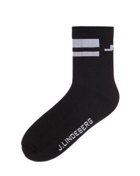J. Lindeberg Dry Yarn Golf Sock - Black