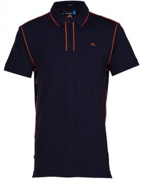J.Lindeberg TOMI REG FIT Lux Pique POLO SHIRT - JL Navy