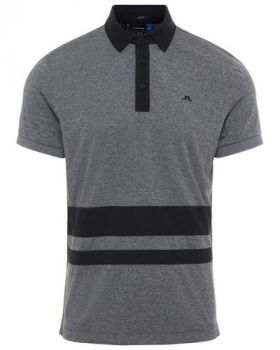 J.Lindeberg Lucas Slim Fit Polo Shirt - Dark Grey Melange